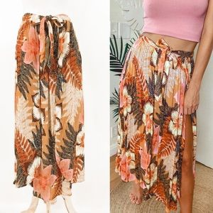 NWOT • Free People Floral Wrap Skirt